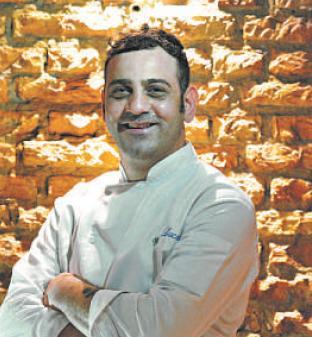 O chef italiano Luca Buonerba comanda a cozinha do Utopia. (ALEXANDRE GUZANSHE/EM/D.A PRESS)